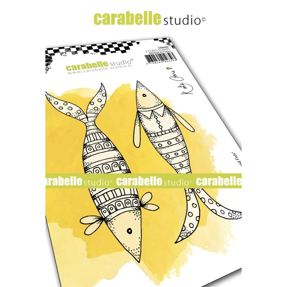 Carabelle Studio - Rubber Cling Stamp Set A6 - Well Dressed Fish - Kate Crane