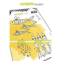 Carabelle Studio - Rubber Cling Stamp Set A6 - Keep Swimming - Kate Crane