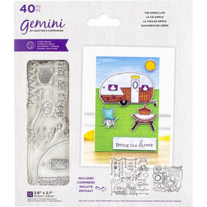 Crafter's Companion - Gemini Stamps & Dies Set - A6 - Staycation - The Simple Life