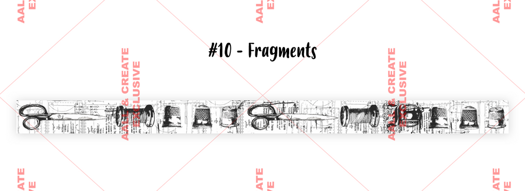 AALL & Create - Washi Tape - #10 - Fragments - Tracy Evans