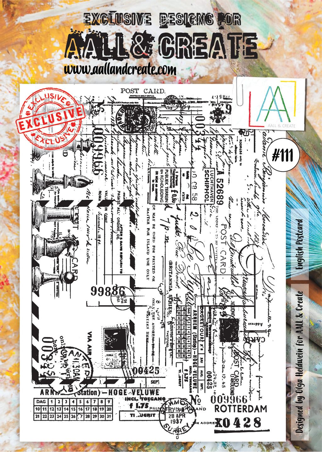 AALL & Create - Clear Stamp Set - #111 - A4 - English Postcard