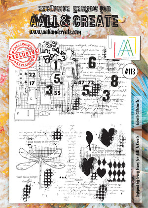 AALL & Create - Clear Stamp Set - #113 - A4 - Eclectic Silhouette