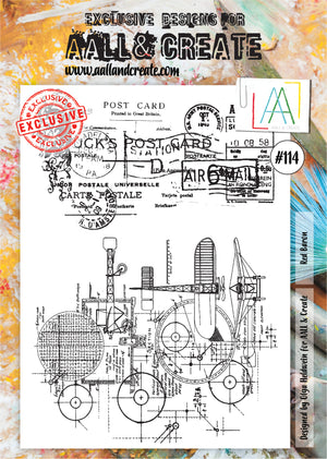 AALL & Create - Clear Stamp Set - #114 - A4 - Red Baron