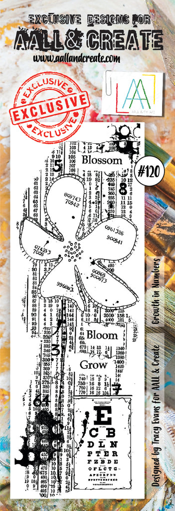 AALL & Create - Clear Border Stamp Set - #120 - Blossom
