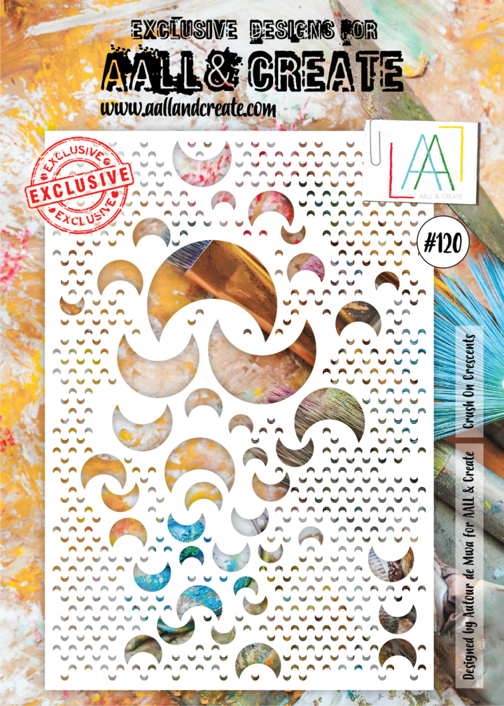 AALL & Create - Stencil - A4 - #120 - Crush on Crescents
