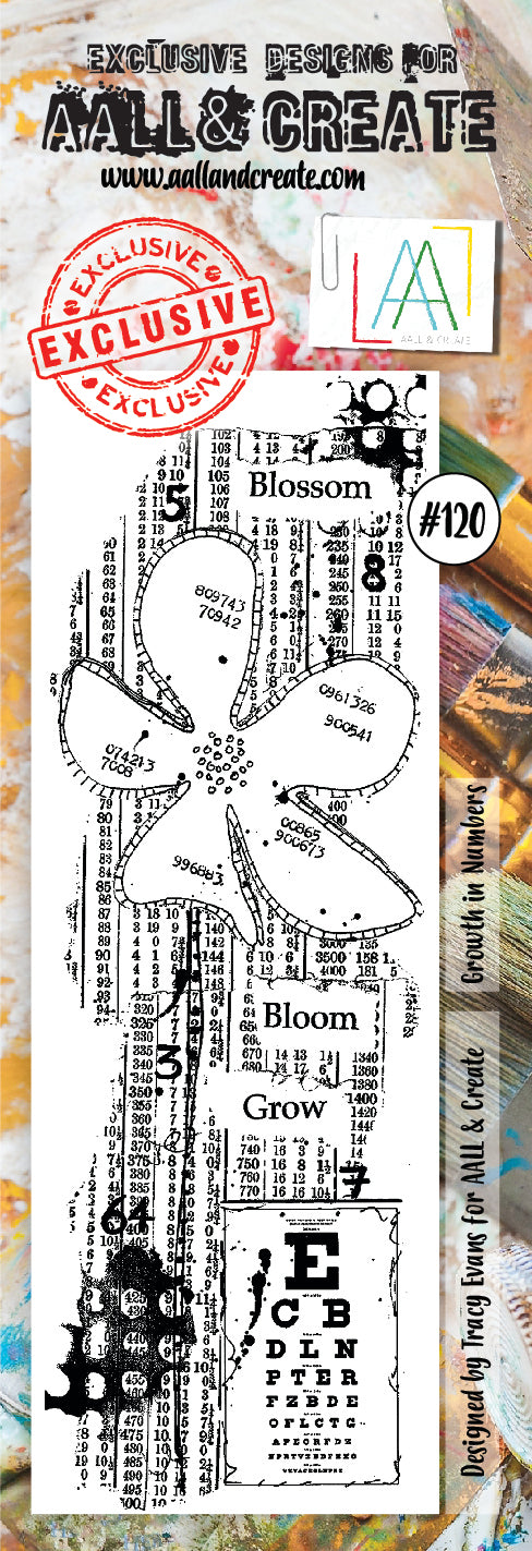 AALL & Create - Clear Border Stamp - #120 - Blossom