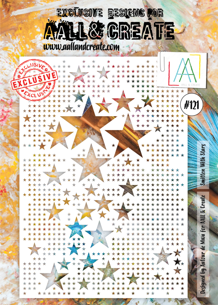 AALL & Create - Stencil - A4 - #121 - Smitten with Stars