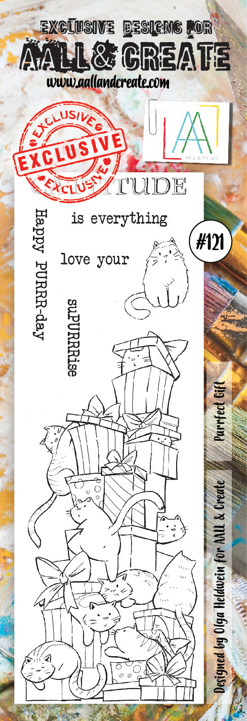 AALL & Create - Clear Border Stamp - #121 - Cats & Presents