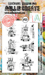 AALL & Create - Clear Stamp Set - #122 - A6 - Chess Pieces