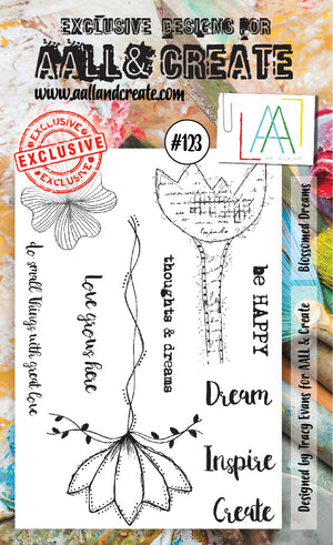 AALL & Create - Clear Stamp Set - #123 - A6 - Blossomed Dreams