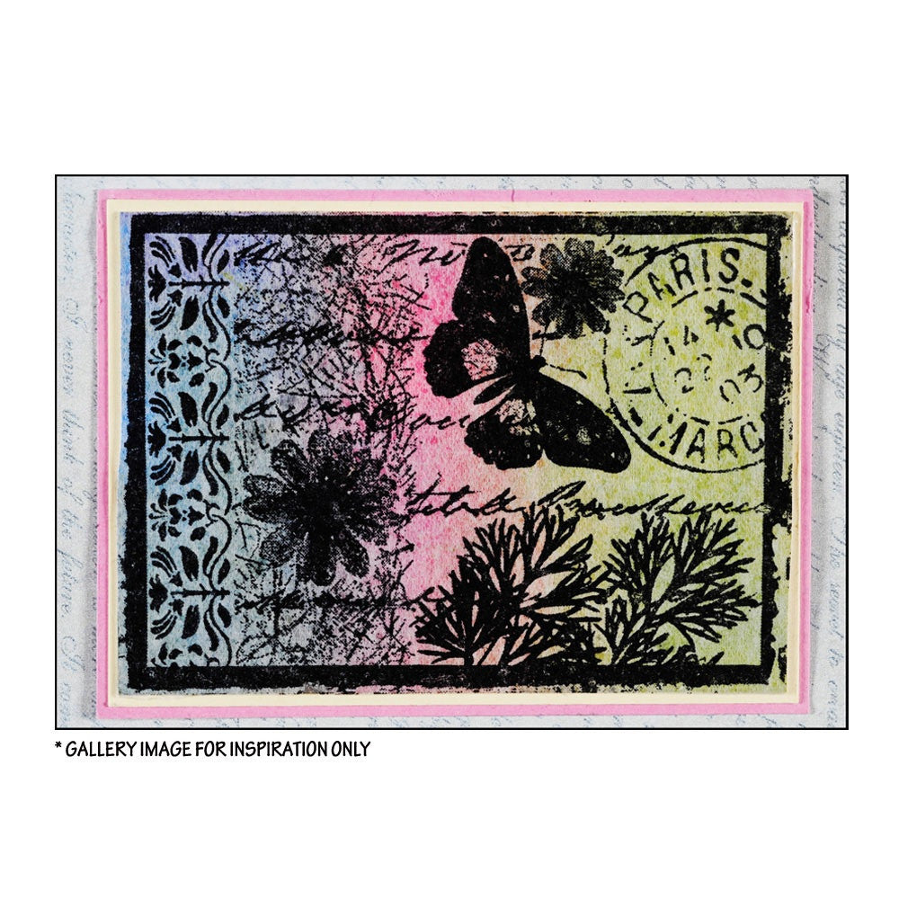 Crafty Individuals - Unmounted Rubber Stamp - 151 - Parisian Butterfly