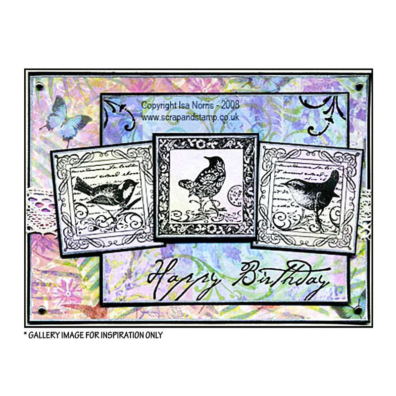Crafty Individuals - Unmounted Rubber Stamp - 184 - Four Songbirds