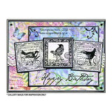 Crafty Individuals - Unmounted Rubber Stamp - Four Songbirds