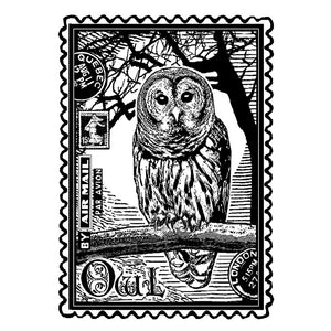 Crafty Individuals - Unmounted Rubber Stamp - 225 - Airmail Owl