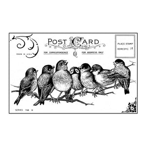 Crafty Individuals - Unmounted Rubber Stamp - 230 - Seven Cheeky Songbirds