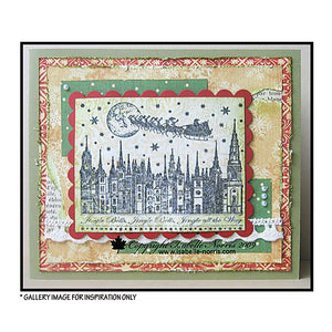 Crafty Individuals - Unmounted Rubber Stamp - 254 - Jingle Bells Rooftops