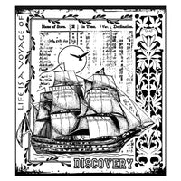 Crafty Individuals - Unmounted Rubber Stamp - 295 - Voyage of Discovery