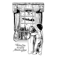 Crafty Individuals - Unmounted Rubber Stamp - 327 - Waiting for Santa