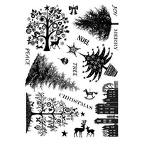 Crafty Individuals - Unmounted Rubber Stamp - 257 - Mini Christmas Trees