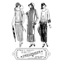 Crafty Individuals - Unmounted Rubber Stamp - The Dressmaker