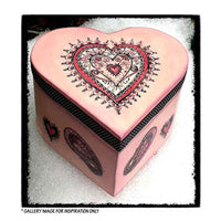 Crafty Individuals - Unmounted Rubber Stamp - 342 - Delicately Detailed Hearts