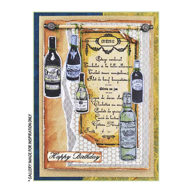 Crafty Individuals - Unmounted Rubber Stamp - 348 - Fine Wine Lovers