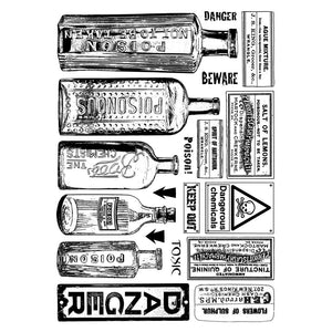 Crafty Individuals - Unmounted Rubber Stamp - 360 - Poison & Danger
