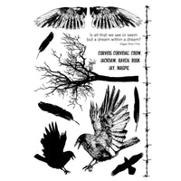 Crafty Individuals - Unmounted Rubber Stamp - 361 - The Crow Plate