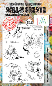 AALL & Create - Clear Stamp Set - #135 - A6 - Quack the Duck - PREORDER