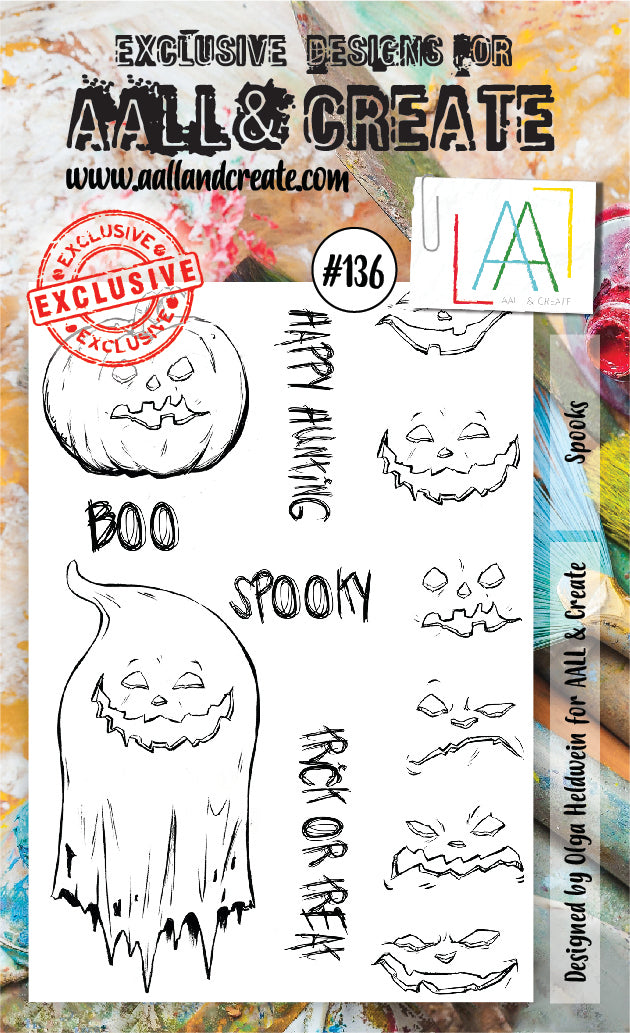 AALL & Create - Clear Stamp Set - #136 - A6 - Spooky