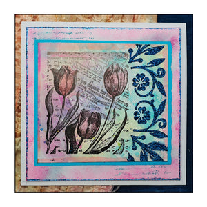 Crafty Individuals - Unmounted Rubber Stamp - 388 - Tiptoe Through the Tulips