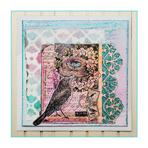 Crafty Individuals - Unmounted Rubber Stamp - 387 - Love is All Around - Bird Nest