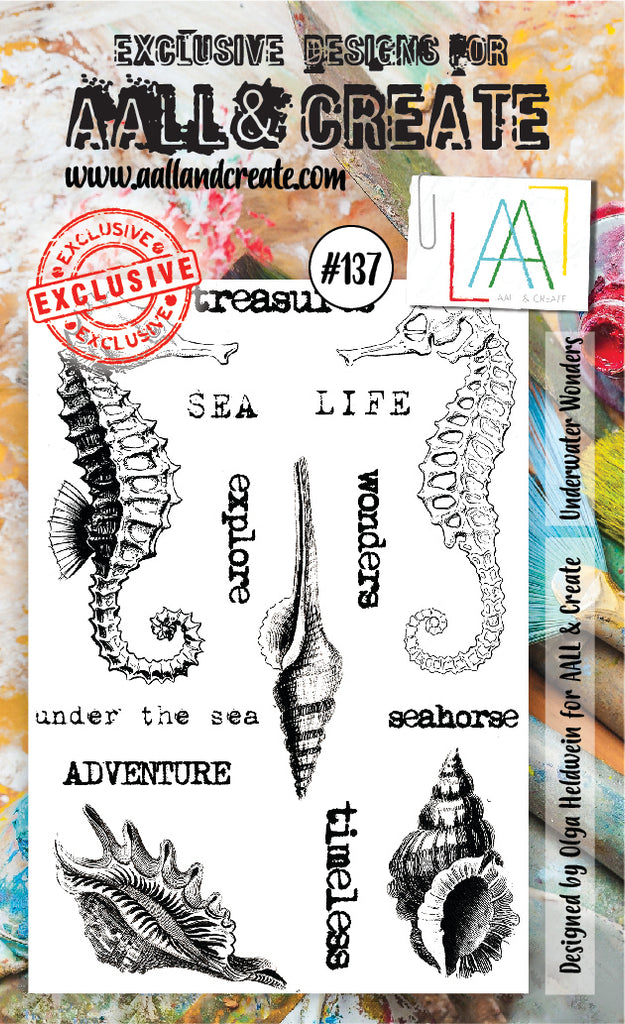 AALL & Create - Clear Stamp Set - #137 - A6 - Underwater Wonders - PREORDER
