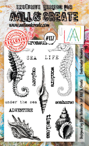 AALL & Create - Clear Stamp Set - #137 - A6 - Underwater Wonders