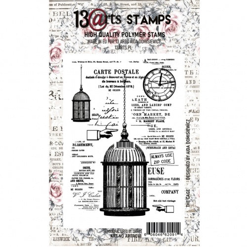 13@rts - A6 - Clear Stamp Set - The Cage - Aida Domisiewicz