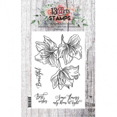 13@rts - A7 - Clear Stamp Set - Sky Flowers - Aida Domisiewicz