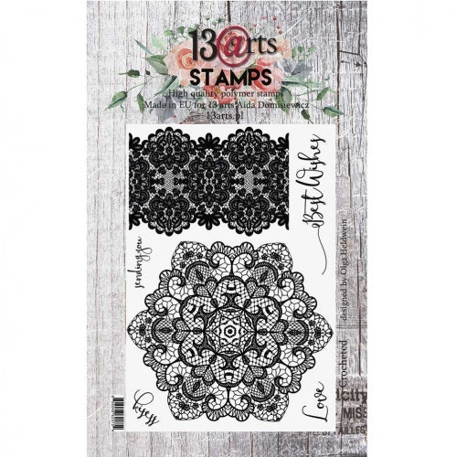 13@rts - A6 - Clear Stamp Set - Crocheted - Olga Heldwein
