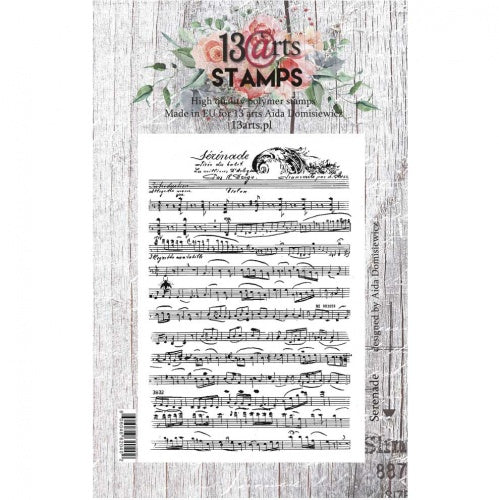 13@rts - Aida Domisiewicz - Clear Stamp Set - Serenade