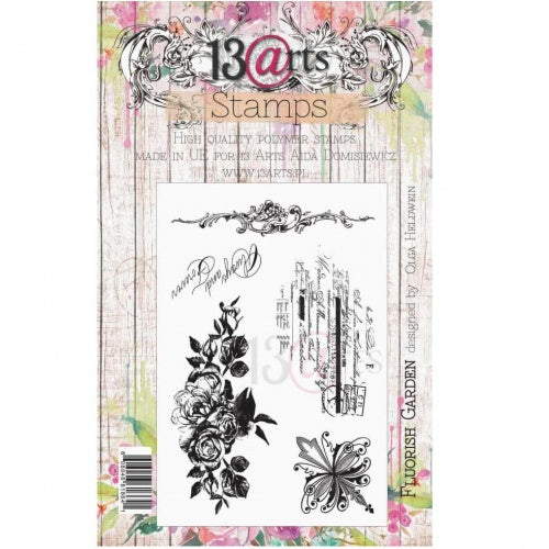 13@rts - Olga Heldwein - Clear Stamp Set - Flourish Garden