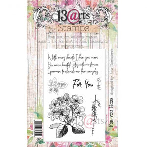 13@rts - Aida Domisiewicz - Clear Stamp Set - For You Rose