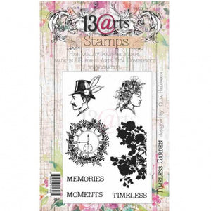 13@rts - A6 - Clear Stamp Set - Timeless Garden - Olga Heldwein