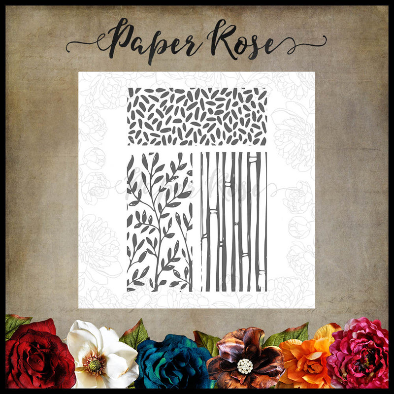 Paper Rose - Mixed Media 2 4 x 6 - Clear Stamp Set