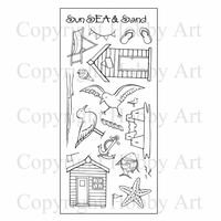 Hobby Art Stamps - Clear Polymer Stamp Set - Summer Holiday
