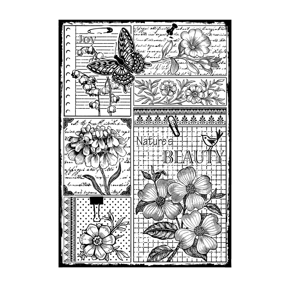 Crafty Individuals - Unmounted Rubber Stamp - Nature's Beauty