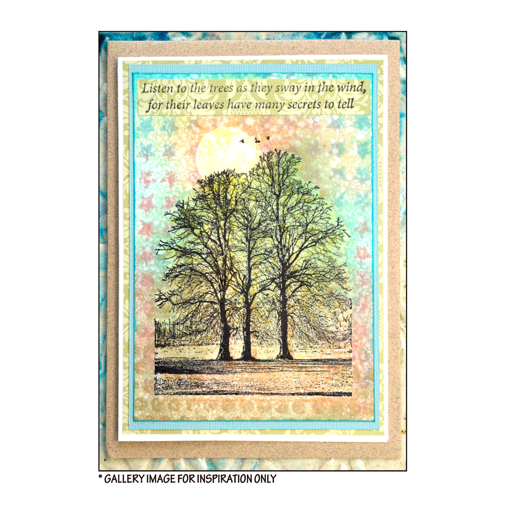Crafty Individuals - Unmounted Rubber Stamp - 453 - Tree Trio