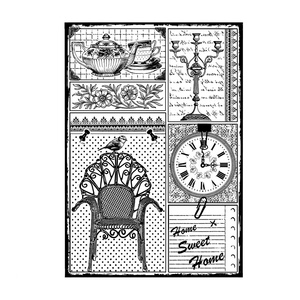 Crafty Individuals - Unmounted Rubber Stamp - 458 - Home Sweet Home
