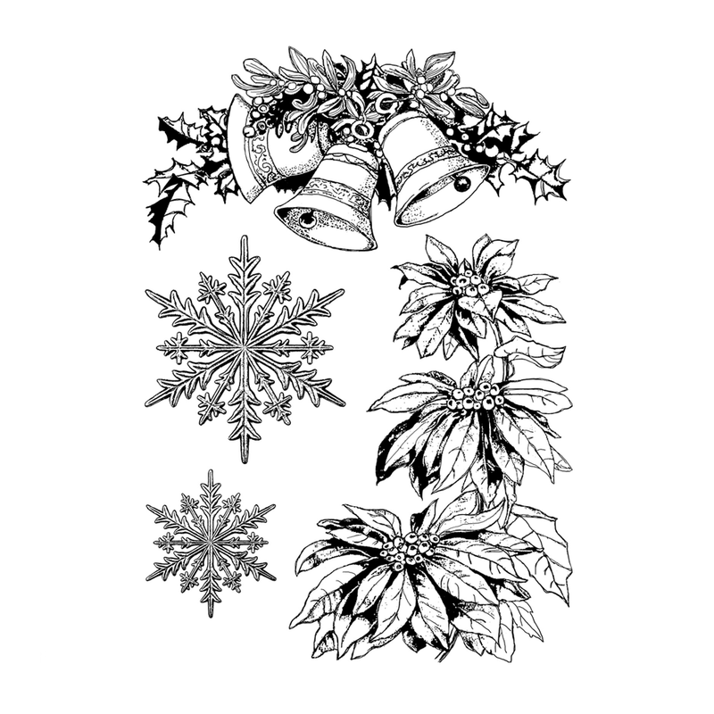 Crafty Individuals - Unmounted Rubber Stamp - 465 - Festively Ornamental
