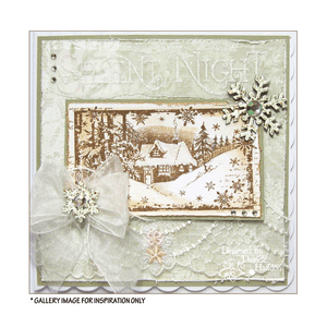 Crafty Individuals - Unmounted Rubber Stamp - 463 - Little Cottage in the Snow
