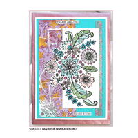 Crafty Individuals - Unmounted Rubber Stamp - 466 - Floral Spray