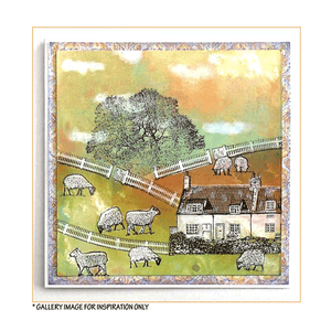 Crafty Individuals - Unmounted Rubber Stamp - 467 - Build a Landscape 2